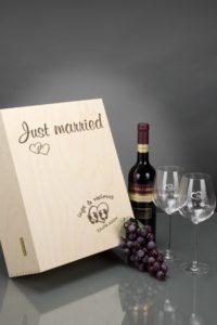 Rotwein-Set mit Gravur