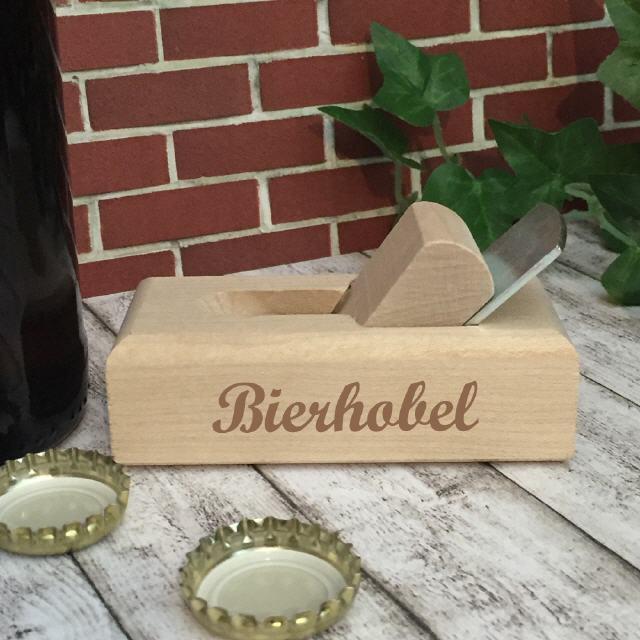 Flaschenöffner in Holzhobelform