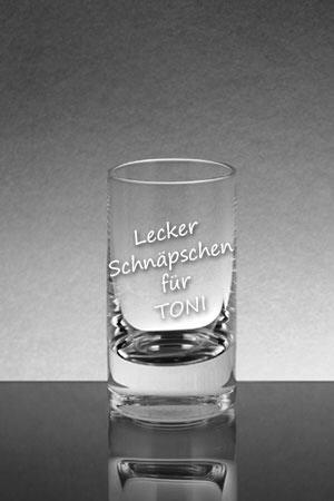 Schnapsglas mit Gravur
